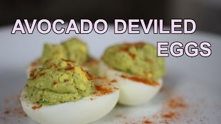 [recipe] Avocado Deviled Eggs - Low Calorie!
