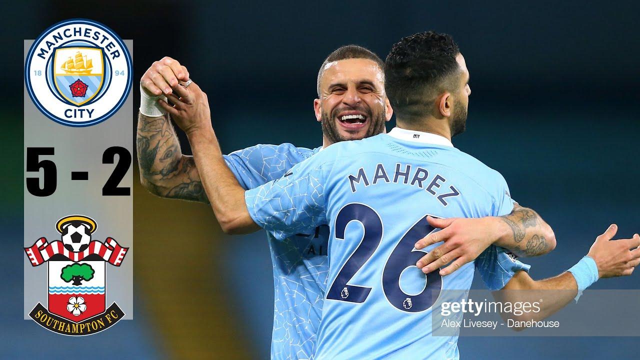 Manchester City vs Southampton 5-2 All Goals & Highlights 10/03/2021 HD -  YouTube