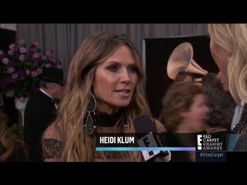 Heidi Klum At Red Carpet Grammy Awards 2018
