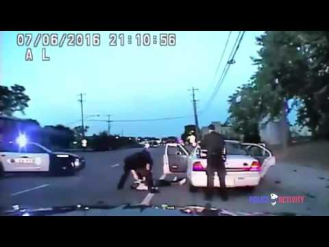 (NEW FOOTAGE) 2017  Black man philando castile shot to death for reaching for his gun
