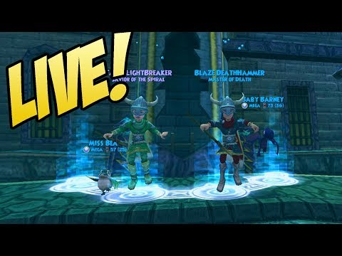 Wizard101: WATERWORKS WITH VIEWERS! - Livestream