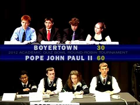 2012 Quiz Bowl part 1 of 2
