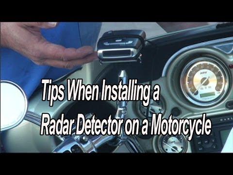Motorcycle Radar Detector Mount YouTube
