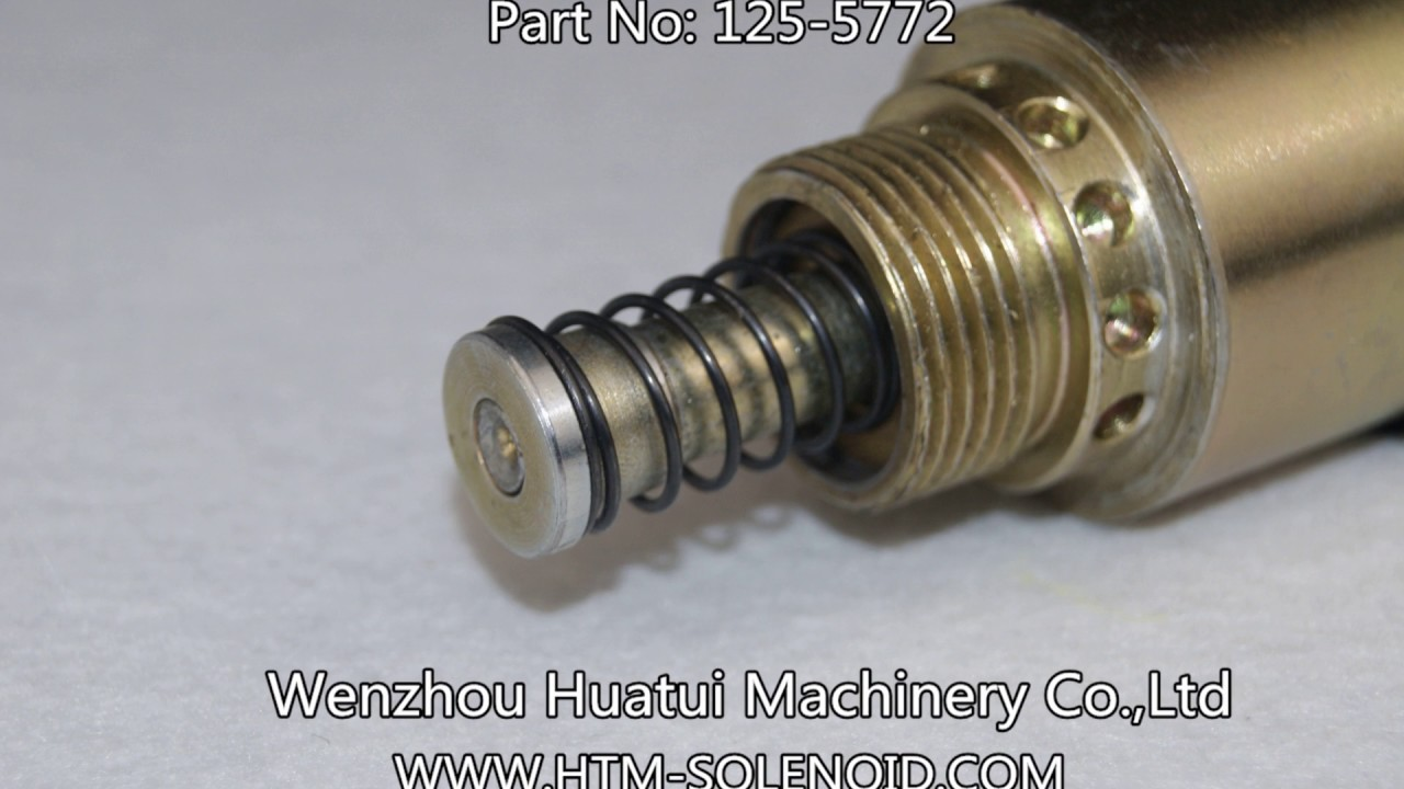 Huatui  125-5772 24v Fuel Shut Off Solenoid Stop Solenoid For Caterpillar