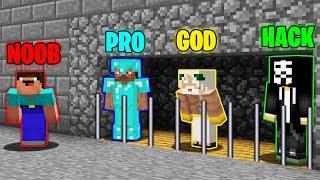 Minecraft Battle : NOOB PUT VS  PRO VS HACKER VS GOD IN PRISON ! SUPER TRAP ! IN MINECRAFT