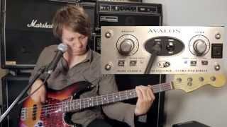 Avalon U5 Class A Active Direct Box with Fender Jazz Bass