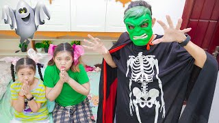 Uncle Kin Dresses As Monster To Make Them Sleep