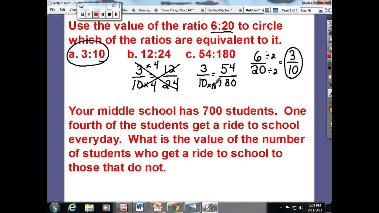 worksheet Equivalent Ratio lesson 8 equivalent ratios defined by the value of a ratio youtube ratio