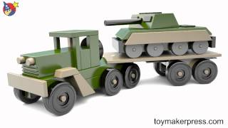 Wood Toy Plans - Desert Storm War Tank And Truck