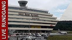 🔴 LIVE Rundgang Flughafen Köln/Bonn mit Abflug Airbus A320 - Flugradar myradar24
