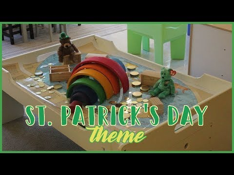 Setting up the Toddler and Preschool Classroom: St Patrick's Day Theme