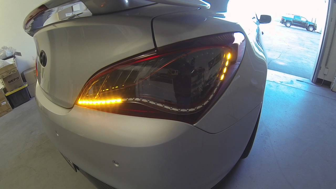 2013 2015 hyundai genesis coupe custom sequential chasing led taillights