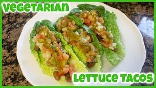 Vegetarian Lettuce Tacos | #fitwithjack