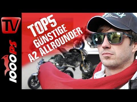 Top 5 - Günstige A2 Allround Motorräder