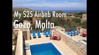 My $25 Airbnb Room On The Island Of Gozo, Malta. Gizimina Farmhouse Xaghra, Gozo.