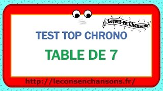 Test Top Chrono - Table de 7