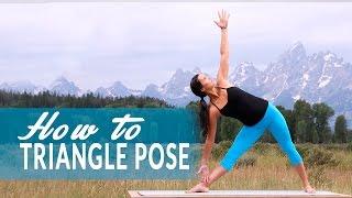 How To Extended Triangle Pose or Utthita Trikonasana with Adi Amar