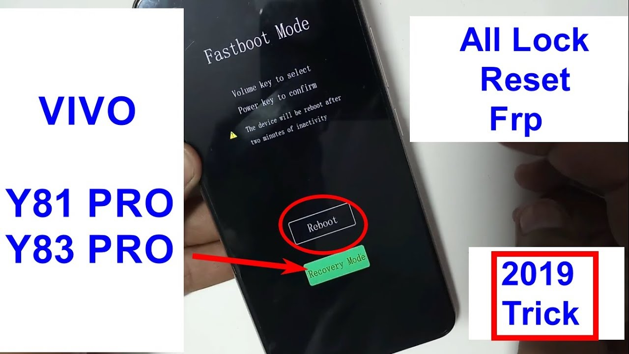 Vivo Y81 Y83 Pro Pattern Lock And Pin Lock Hard Reset Easy Solution 2019