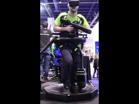 Virtuix Omni demonstration at CES 2016