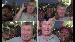 Sky Newsreporter mobbed by jubilant crowds in Zimbabwe