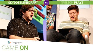 Google Play: Game On // SkyDoesMinecraft vs.PrestonPlayz [Crossy Road]