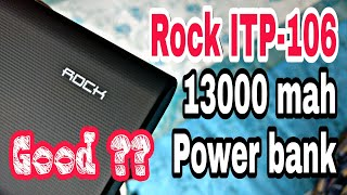 Rock 13000 mah power bank Unboxing and review Rs 599 Trick Rock ITP-106 black
