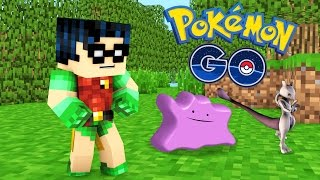 Pokemon Go | Baby Robin Finds Mewtwo, Ditto, and Rare Pokemon in Minecraft!