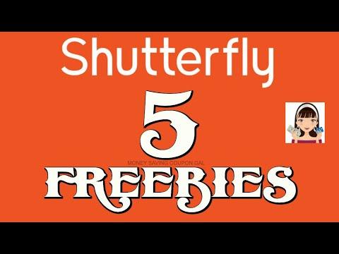 SHUTTERFLY 5+ FREEBIES !!!