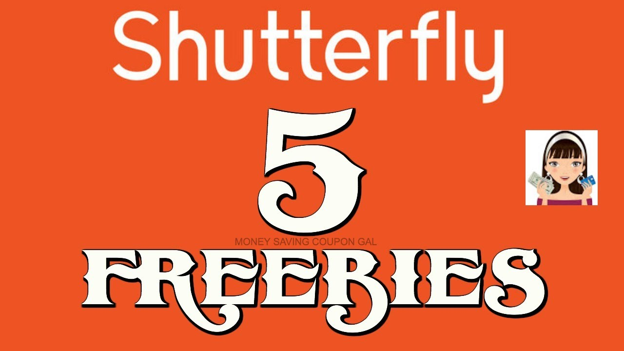 SHUTTERFLY 5+ FREEBIES !!! image