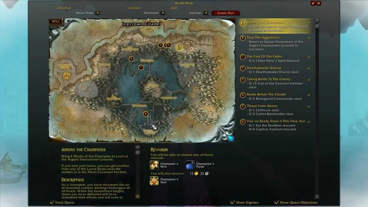 Northrend daily guide: icecrown to grizzly hills (alliance.