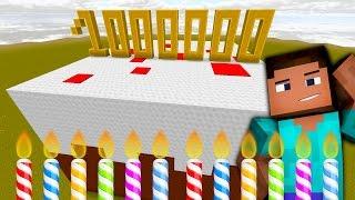 LE GÂTEAU DU MILLION D'ABONNÉS ! | BUILD BATTLE | Minecraft (Avec POPIGAMES)