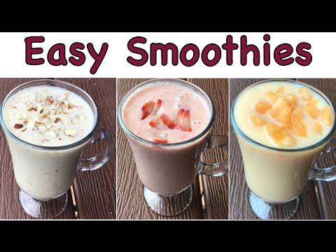 3 Easy Healthy Smoothies - Summer Drinks