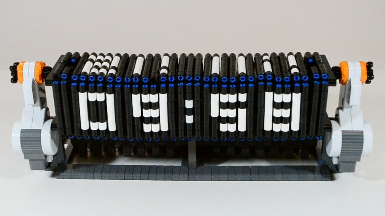 Time Twister 3 - LEGO Mindstorms digital clock | FunnyDog.TV