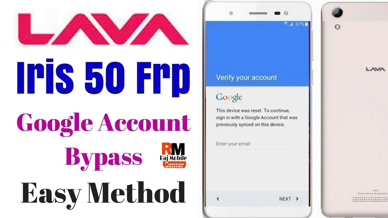 Lava Iris 50 Google Account Bypass Easy Method