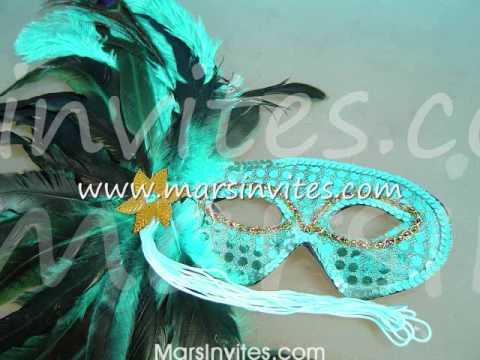 Antifaces de carnaval especial para fiestas bodas y XV aos  YouTube
