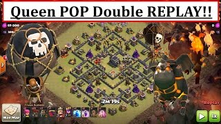 Queen POP LaLoon. NEW Air ATTACK! TH9 Double Replay. Fix Mistakes. Clash of Clans