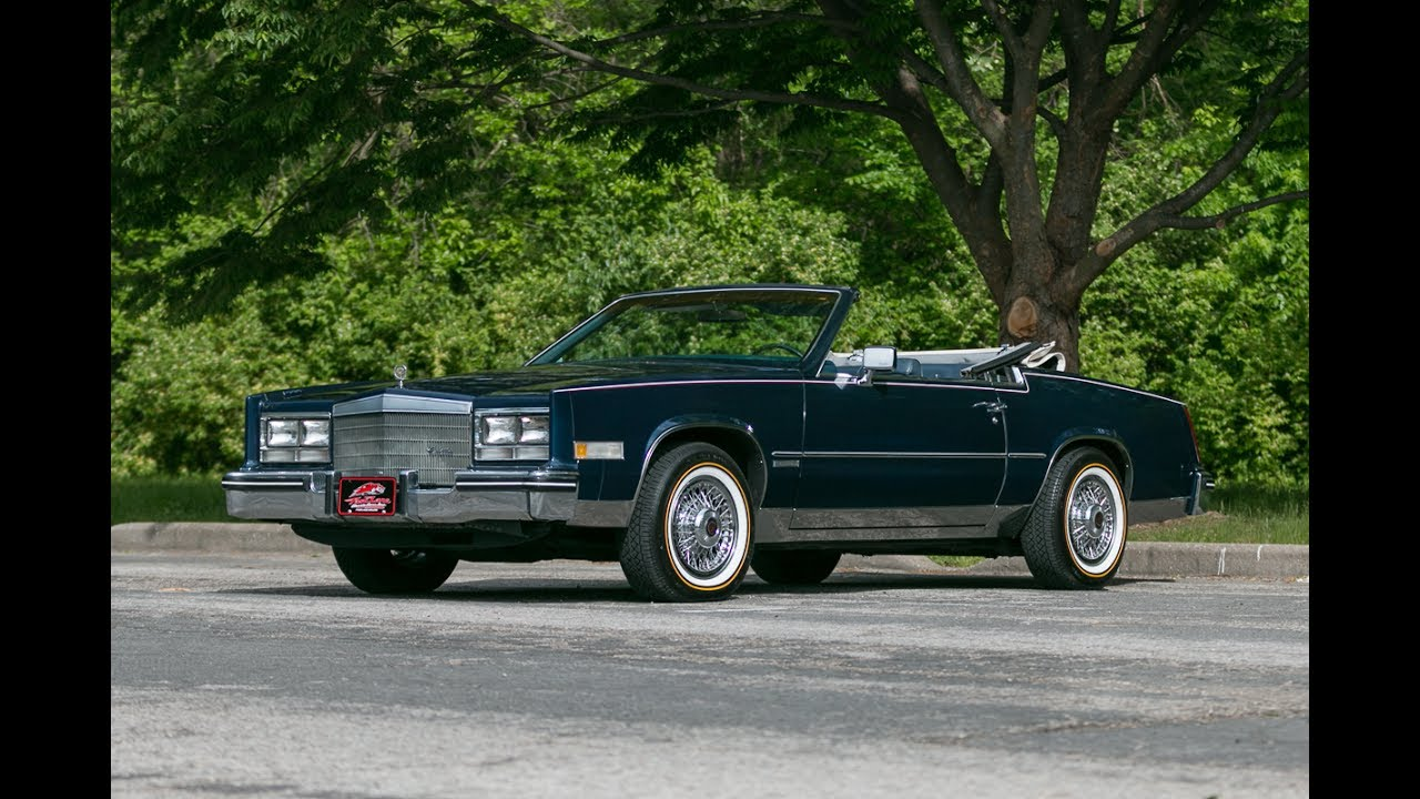 1983 cadillac eldorado convertible for sale youtube 1983 cadillac eldorado convertible for sale