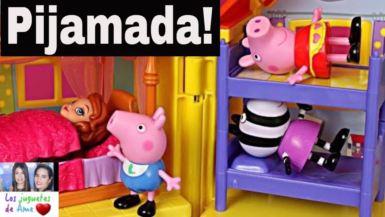 Pijamada La Videos Juguetes En Pig Nueva De Peppa Casa u1c35TFJlK