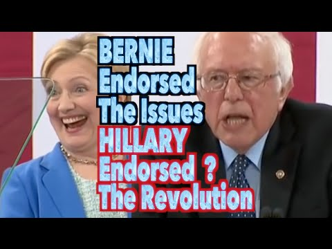 Bernie Endorsed the Issues. Hillary Endorsed the Political Revolution.