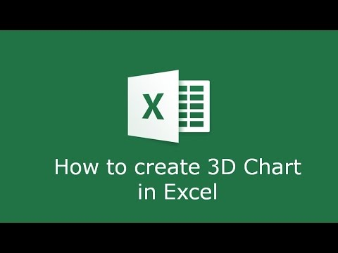 How to create a 3D graph in Microsoft Excel - YouTube
