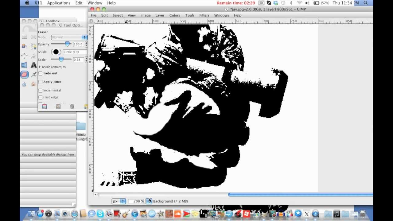 How to create a graffiti stencil lesson 2 cleaning up in gimp