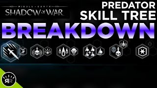 Shadow of War - Predator Skill Tree BREAKDOWN - Random Respawn
