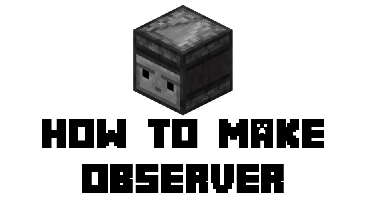 Minecraft Survival How To Make Observer Youtube