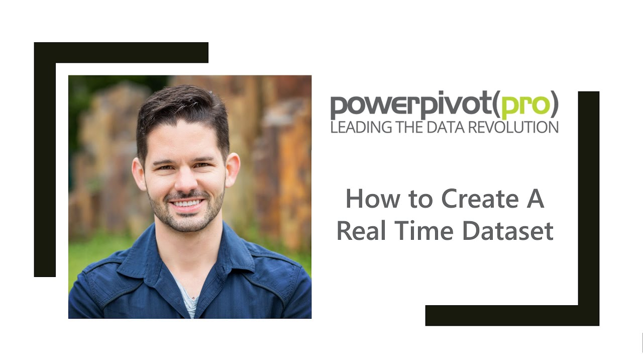 How to Create A Real Time Dataset on Power BI com