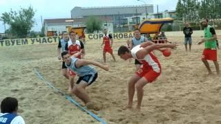 Технолог-Черкесск. Пляжный гандбол. Витязево. 04.06.16.