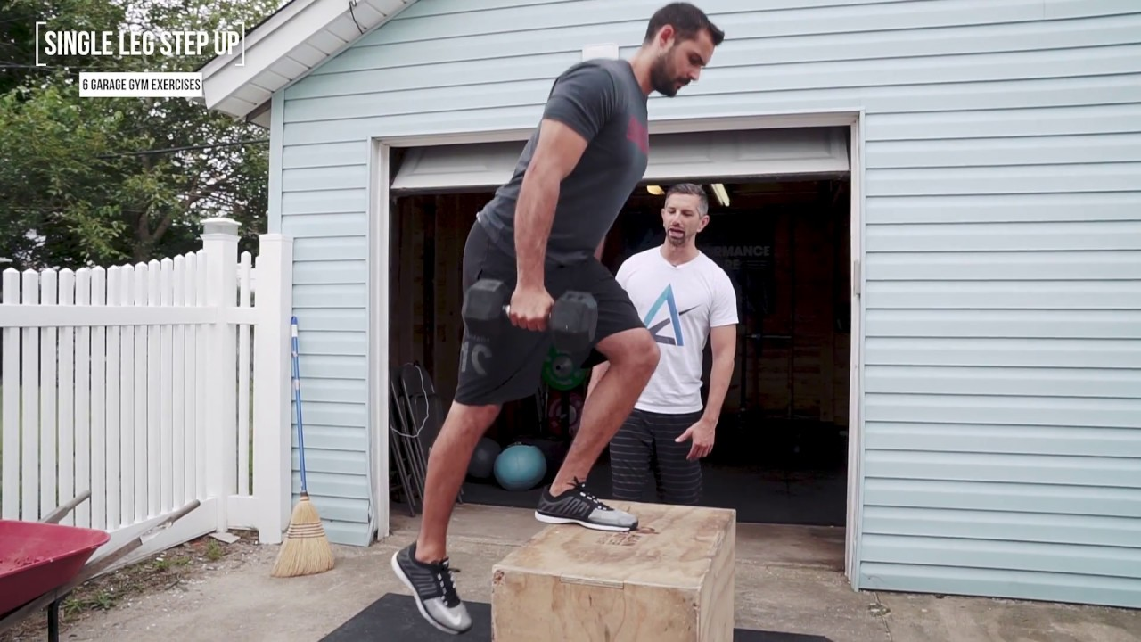 You need to do step ups garage gym exercises youtube