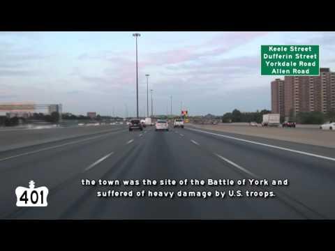 North America's busiest Freeway, Highway 401, Toronto, Ontario