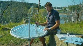 Самодельный солнечный концентратор из спутниковой тарелки