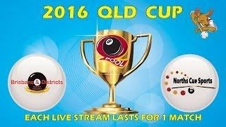 2016 Qld Cup - Men's 8 Ball Team - Brisbane v Norths 7:30pm