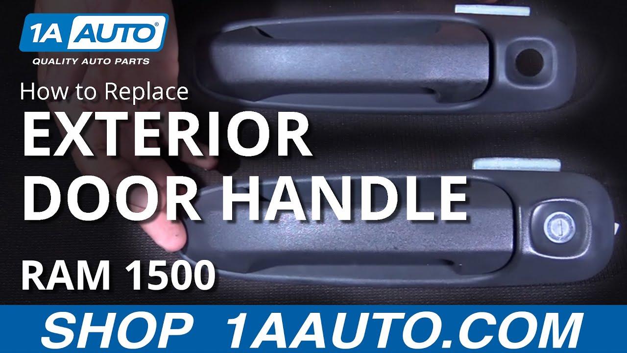 How to Install Replace Exterior Door Handle 2002-08 Dodge Ram BUY ...